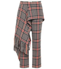 Monse Checked Cotton And Wool Pants Multicoloured