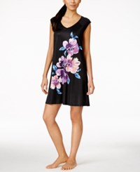 Alfani Floral Graphic Satin Short Nightgown Only At Macy's