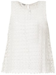 Max And Moi Crocheted Top White