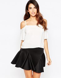 Ax Paris Cold Shoulder Top Cream