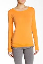 Solow Layering Long Sleeve Tee Orange