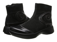 Naot Footwear Oyster Black Suede Black Madras Women's Zip Boots