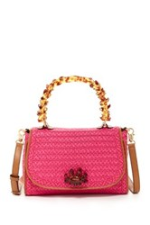 Eric Javits Ariel Leather Trimmed Handbag Pink