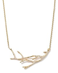 18K Gold Stardust Branch Necklace With Diamonds 19' Ippolita Red