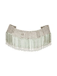 Miu Miu Fringed Crystal Choker Metallic