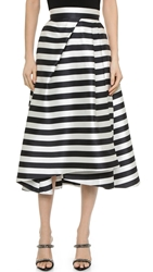 Nicholas Thin Stripe Pleat Ball Skirt