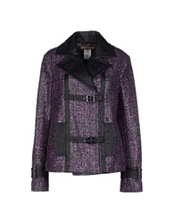 Galliano Coats Purple