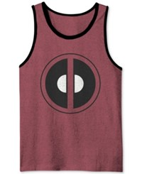 Jem Men's Deadpool Graphic Print Tank Chinese Red