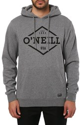 O'neill Double Trouble Hooded Pullover Heather Grey