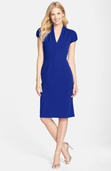 Women's Betsey Johnson Puffed Sleeve Scuba Sheath Dress Royal Blue