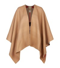 Burberry Shoes And Accessories Reversible House Check Cape Female Brown