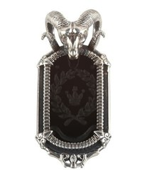 Konstantino Men's Sterling Silver Ram Pendant With Onyx