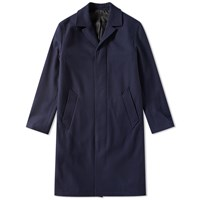 Ami Alexandre Mattiussi Long Wool Coat Blue