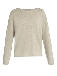 Nili Lotan Rylie Cashmere Sweater Light Grey