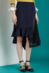 Toga Archives Taffeta Skirt Navy