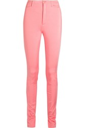 Balenciaga Stretch Satin Skinny Pants Pink