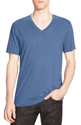 James Perse Men's Short Sleeve V Neck T Shirt Denim