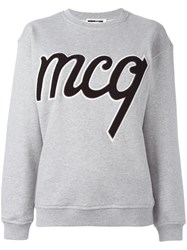 Mcq By Alexander Mcqueen Logo Patch Sweatshirt Grey