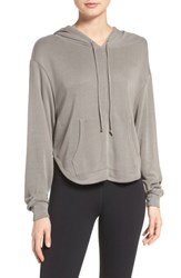Free People Fp Movement Back Into It Cutout Hoodie Green