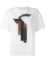 Neil Barrett Graphic Print T Shirt White
