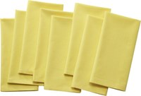 Cb2 Set Of 8 Poplin Chartreuse Napkins