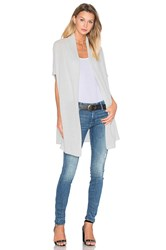 White Warren Two Way Cocoon Cardigan Gray