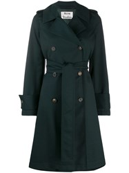 Acne Studios Belted Trench Coat Green