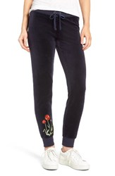 Juicy Couture Women's Pretty Thing Zuma Velour Track Pants Regal