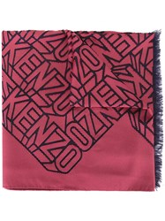 Kenzo Flying Scarf Red