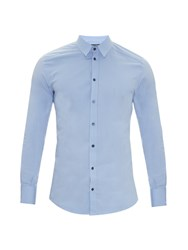 Dolce And Gabbana Gold Fit Cotton Blend Double Placket Shirt