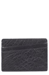 Men's Will Leather Goods 'Quip' Leather Card Case Black Black Royal
