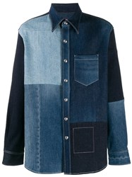 Acne Studios Recrafted Patchwork Denim Shirt 60