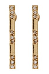 14Th And Union Pave Bar Drop Earrings Metallic