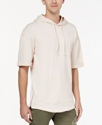 American Rag Men's Short Sleeve Hoodie Created For Macy's Primrose Pink