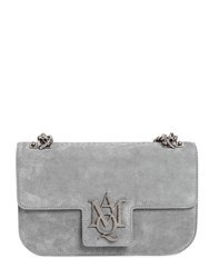 Alexander Mcqueen Medium Insignia Suede Leather Bag