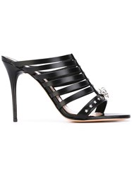 Alexander Mcqueen Strappy Skull Sandals Women Calf Leather Leather 37 Black