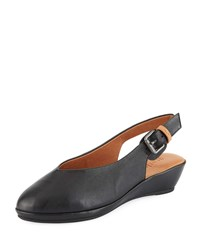 Gentle Souls Noemi Leather Slingback Flats Black