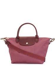 Longchamp Printed Top Handle Tote Pink