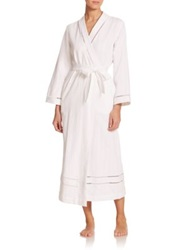 Oscar De La Renta Sleepwear Luxe Spa Long Cotton Robe White