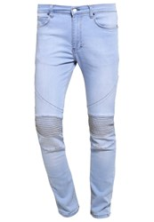 Religion Crypt Slim Fit Jeans Stone Wash 80S Blue Light Blue Denim