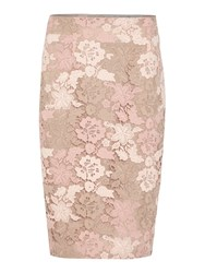 Episode Skirt With All Over Lace Latte