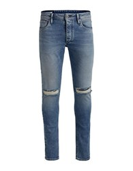 Jack And Jones Jjiglen Slim Fit Ripped Knee Jeans