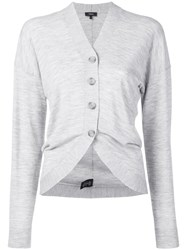 Theory Curved Hem Cardigan Grey