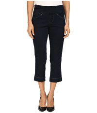Jag Jeans Petite Marion Pull On Crop Comfort Denim In After Midnight After Midnight Women's Black