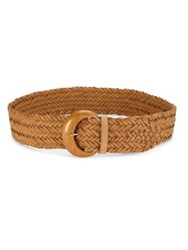 Ralph Lauren Braided Leather Belt Sandy