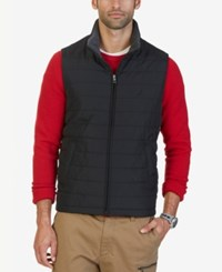 Nautica Men's Big And Tall Channel Quilted Vest True Black
