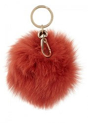Coccinelle Burnt Orange Fur Keyring