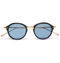 Thom Browne Round Frame Acetate And Metal Sunglasses Black