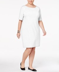 Karen Scott Plus Size Elbow Sleeve T Shirt Dress Only At Macy's Bright White