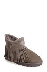Women's Koolaburra 'Haley Diamond' Fringe Cuff Leather And Shearling Boot